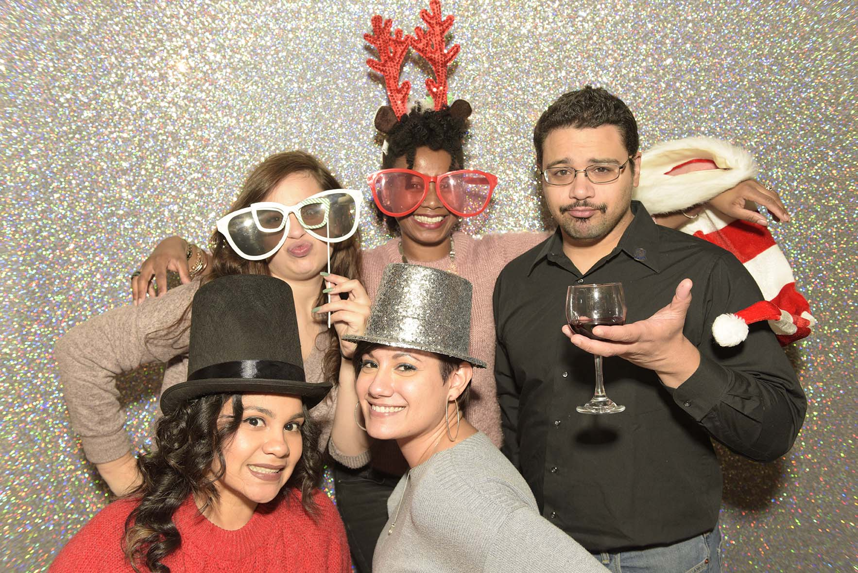 Group Pictures with Photo Booths